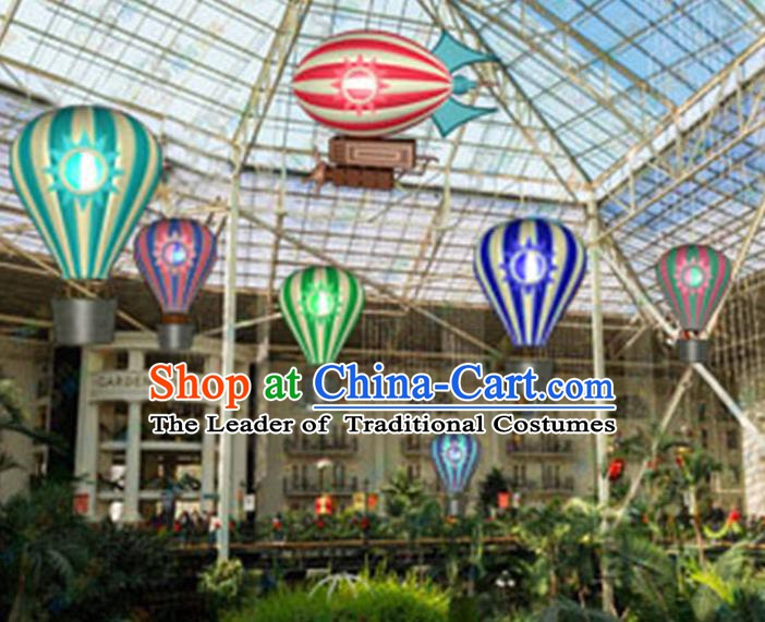 Handmade Chinese New Year Decorations Hot Air Balloon Lanterns Stage Display Lamp
