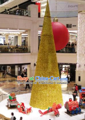 Traditional Golden Shiny Christmas Tree Lamps Stage Display Lights Decorations Lamplight LED Lanterns