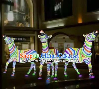 Traditional Christmas Decorations Lights Lamps Stage Display Zebra Lamplight LED Lanterns