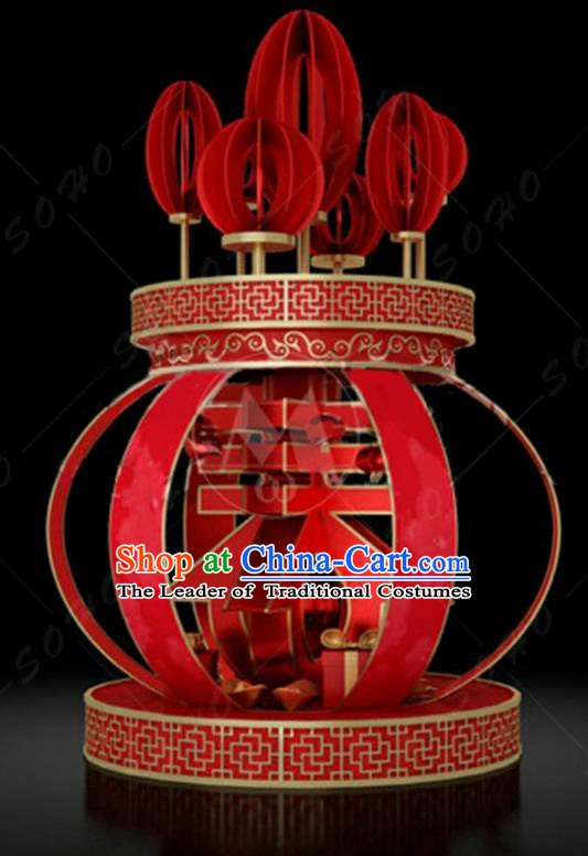 China Traditional New Year Lamp Decorations Lamplight Stage Display Red Lanterns