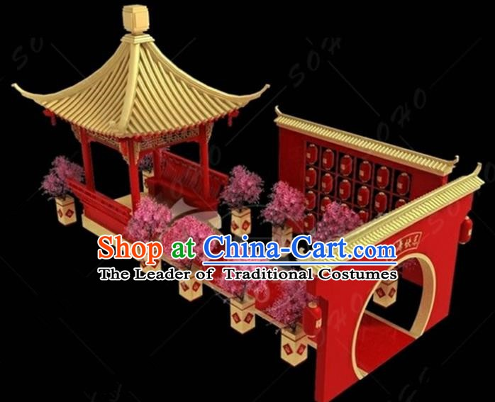 China Traditional Courtyard Lamp New Year Decorations Lamplight Stage Display Lanterns