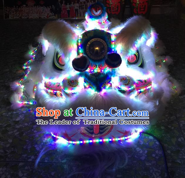 Top Grade Chinese Traditional LED Light Lion Head Professional Lion Dance Costumes Complete Set