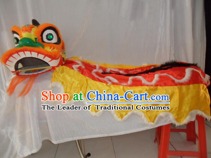 Chinese Traditional Children Lion Dance Costumes Professional Celebration and Parade Lion Head Complete Set