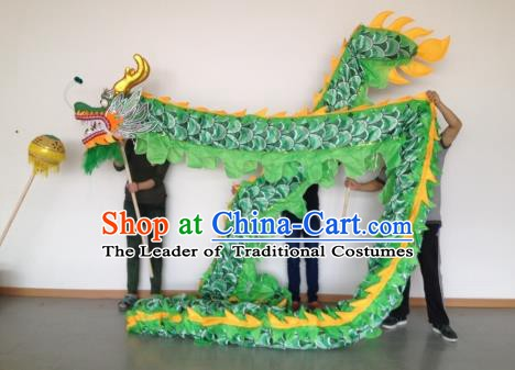 Chinese Traditional Green Dragon Dance Costumes Professional Lantern Festival Celebration Dragon Parade Complete Set
