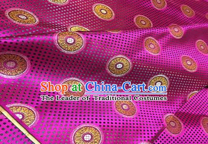 Chinese Traditional Fabric Mongolian Robe Rosy Brocade Chinese Fabric Asian Material