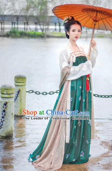 Chinese Traditional Tang Dynasty Imperial Consort Costumes Ancient Court Princess Dress Clothing for Women