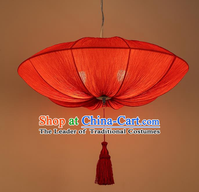 Traditional China Handmade Lantern Ancient New Year Red Hanging Lanterns Palace Ceiling Lamp