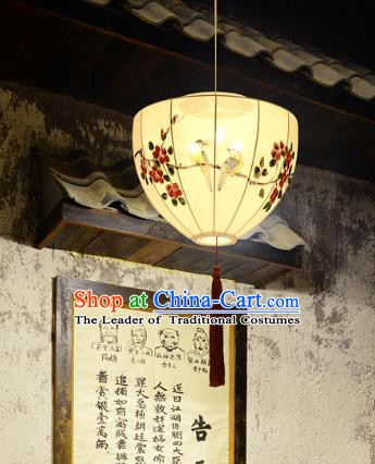 China Handmade Lantern Traditional Painting Flowers Hanging Lanterns Palace Ceiling Lamp