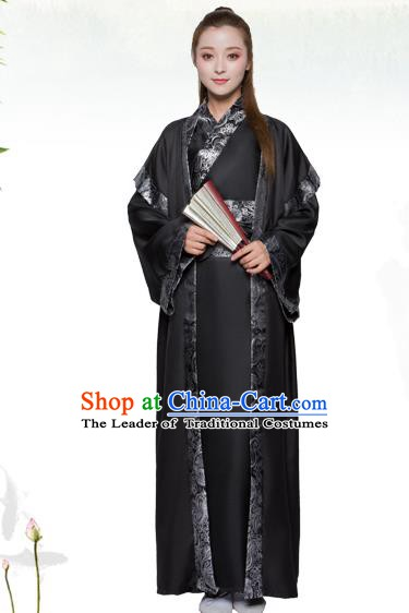 China Han Dynasty Female Swordsman Costume Ancient Theatre Performance Heroine Clothing for Women