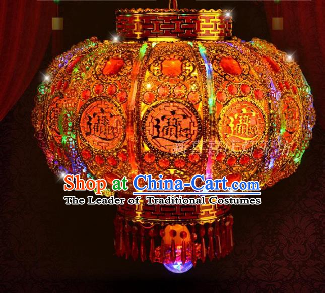 Chinese Handmade Palace Lanterns Traditional New Year Colorful Hanging Lantern