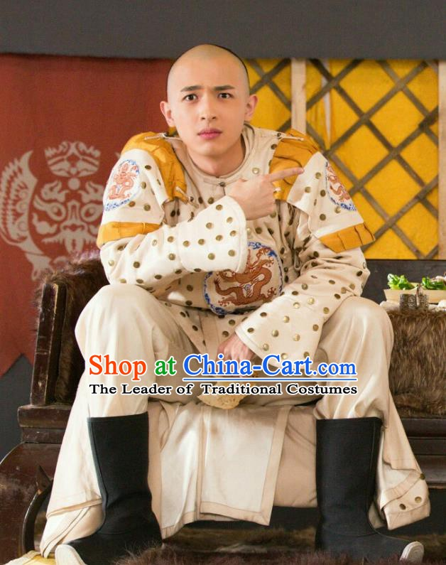 Chinese Qing Dynasty Prince Regent Dorgon Historical Costume China Ancient Clothing