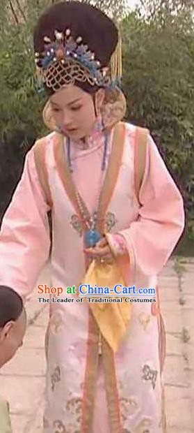 Chinese Ancient Qing Dynasty Imperial Concubine De of Kangxi Manchu Dress Historical Costume for Women