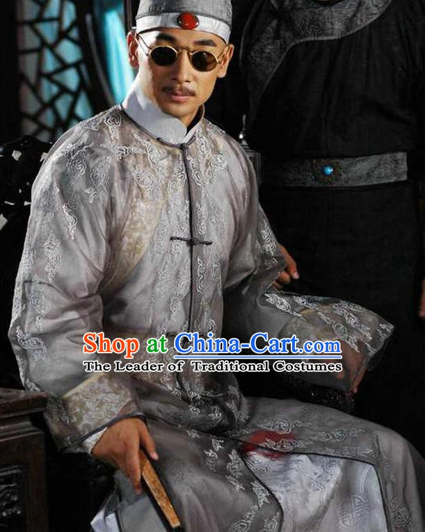 Chinese Qing Dynasty Emperor Xianfeng Replica Costumes Ancient Manchu Historical Costume for Men
