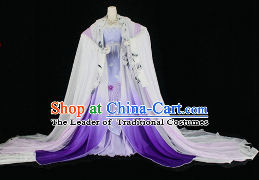 Top Purple China Empress Costume Chinese Imperial Costume Dramas Empress of China Palace Clothing Complete Set