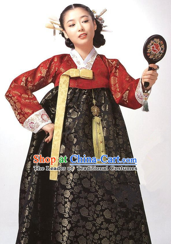 Korean Traditional Palace Clothing Empress Hanbok Korea Fashion Apparel Dress for Women