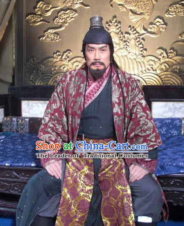 Chinese Ancient Qing Dynasty Royal Highness Pingxi Wu Sangui Costume for Men