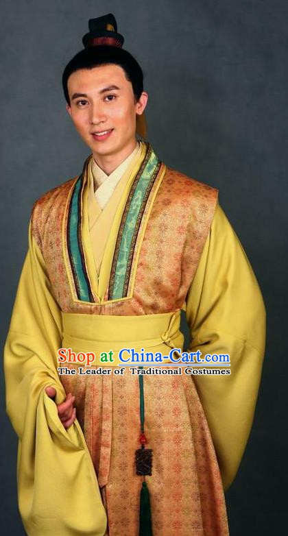 Chinese Ancient A Dream in Red Mansions Character Nobility Childe Jia Lian Costume for Men