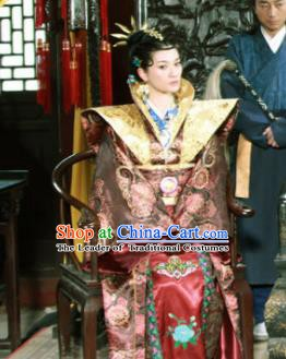 Ancient Chinese Ming Dynasty Queen Embroidered Historical Costume Palace Lady Replica Costume for Women