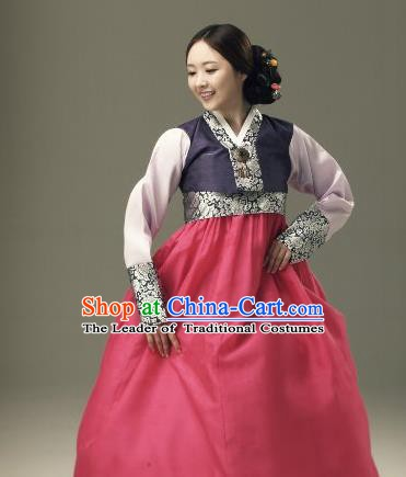 Top Grade Korean Traditional Hanbok Blouse and Red Dress Fashion Apparel Costumes for Women