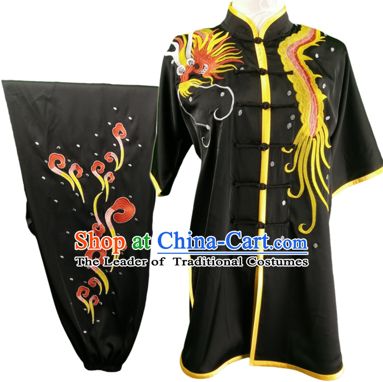 Top Changquan Nanquan Long Fist Southern Fist Phoenix Embroidery Best and the Most Professional Kung Fu Martial Arts Clothing Competition Uniforms