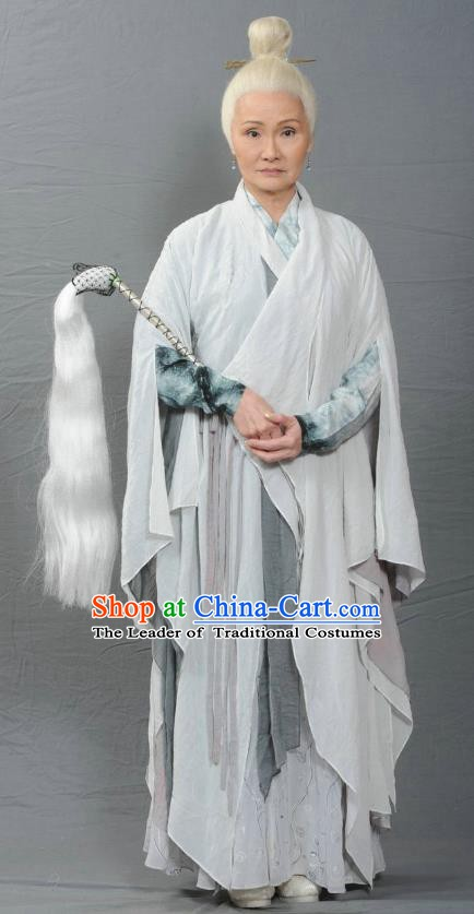 Ancient Chinese Ming Dynasty Swordswoman Taoist Nun Historical Costume for Women