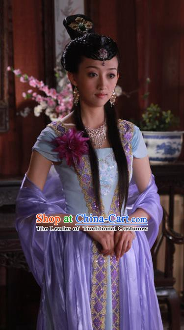 Ancient Chinese Ming Dynasty Princess Embroidered Dress Historical Costume for Women