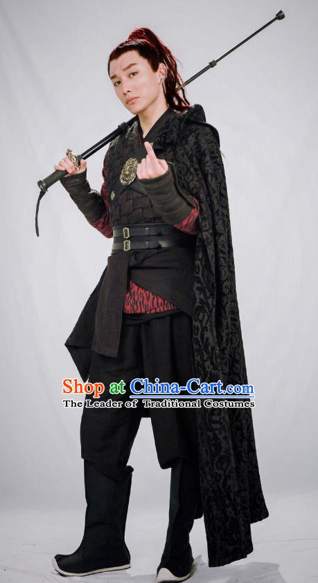 Chinese Ming Dynasty Swordsman Costume Ancient Knight Clothing for Men