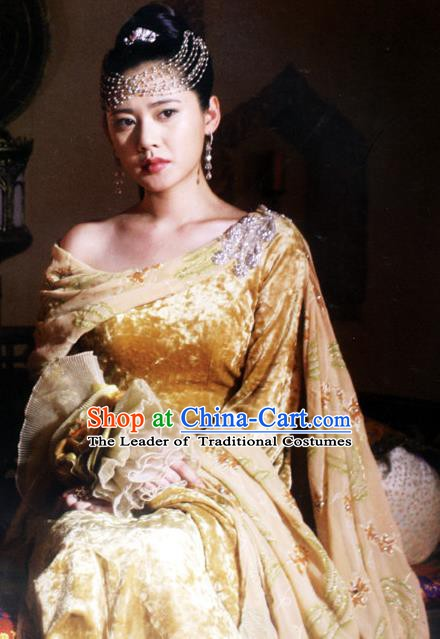 Ancient Chinese Ming Dynasty Palace Princess Replica Costume and Headpiece Complete Set for Women
