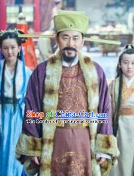 Chinese Song Dynasty Emperor Zhao Kuangyin Embroidered Clothing Ancient Imperator Replica Costume for Men