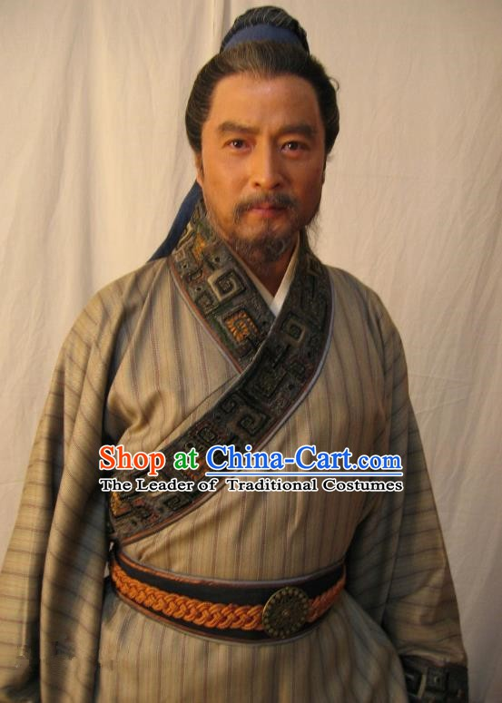 Chinese Song Dynasty Politician Sun Xun Clothing Ancient Litterateur Replica Costume for Men