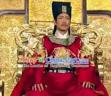 Chinese Ancient Song Dynasty Li Emperor Zhao Yun Replica Costume for Men