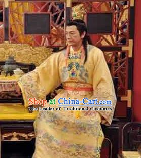 Chinese Ancient Song Dynasty Ren Emperor Zhao Zhen Replica Costume for Men