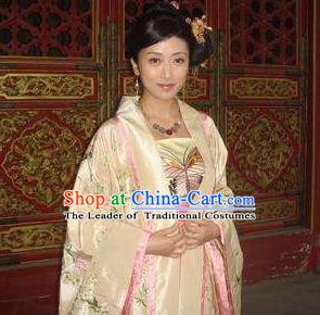 Chinese Ancient Song Dynasty Palace Imperial Consort Embroidered Replica Costume for Women