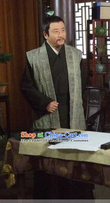 Chinese Ancient Song Dynasty Litterateur Politician Wang An-shi Replica Costume for Men