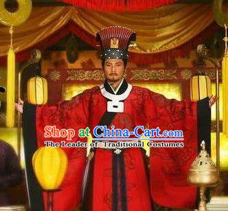 Ancient Chinese Southern Song Dynasty Emperor Zhao Gou Replica Costume Imperial Robe for Men