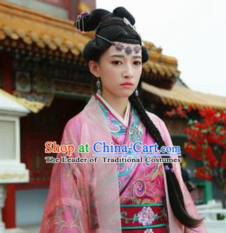 Chinese Ancient Ming Dynasty Yingzong Zhu Qizhen Imperial Consort Zhuang Embroidered Replica Costume for Women