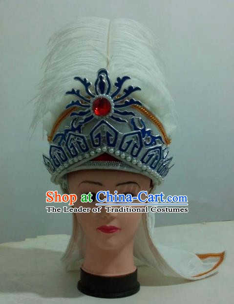 China Traditional Beijing Opera Princess Hair Accessories Chinese Peking Opera Niche Hats for Men