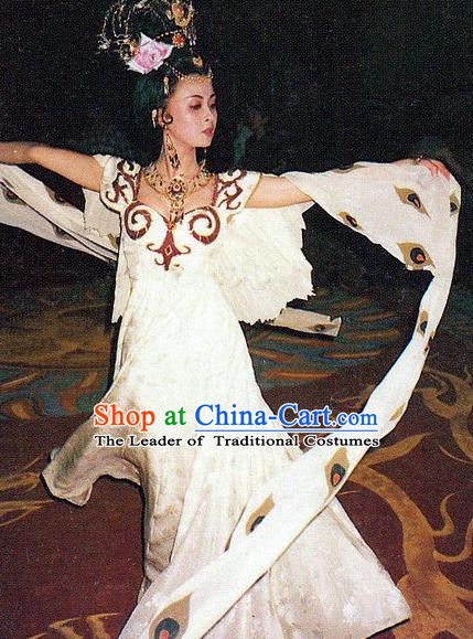 Chinese Ancient Tang Dynasty Palace Lady Dance Dress Imperial Consort Yang Replica Costume for Women