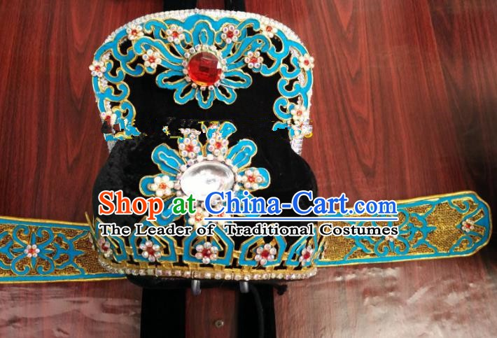 China Traditional Beijing Opera Scholar Hair Accessories Chinese Peking Opera Niche Hats for Men