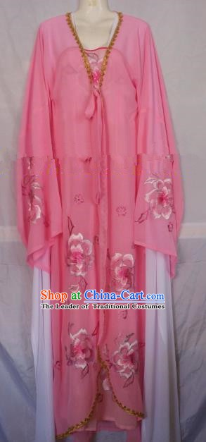 Traditional Chinese Beijing Opera Costume Professional Peking Opera Empress Diva Embroidered Pink Cape