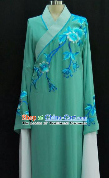 Traditional Chinese Beijing Opera Embroidered Water Sleeve Robe Peking Opera Niche Blue Costume for Adults