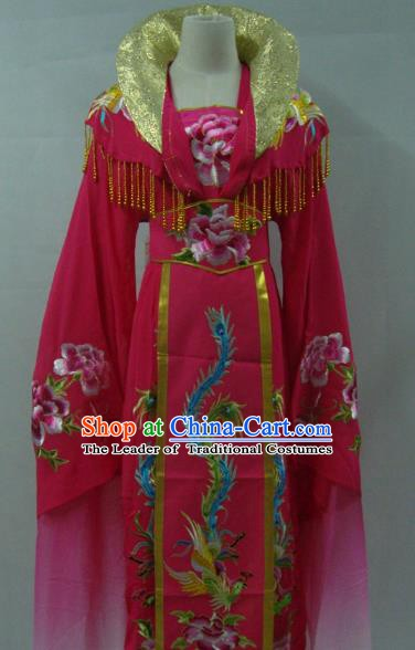 Top Grade Chinese Beijing Opera Actress Costume China Peking Opera Imperial Empress Rosy Dress