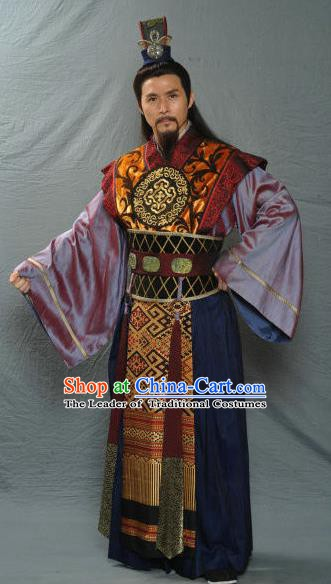 Traditional Chinese Ancient Royal Highness Song Dynasty Prince Replica Costume for Men