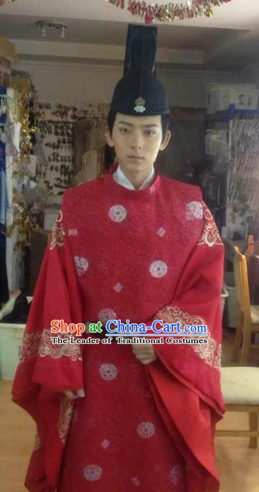 Traditional Chinese Ancient Tang Dynasty Nobility Childe Helan Minzhi Replica Costume for Men