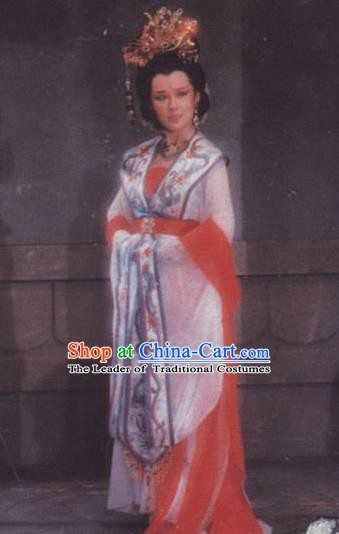Chinese Ancient Tang Dynasty Empress Hanfu Dress Queen Wu Zetian Historical Costume for Women