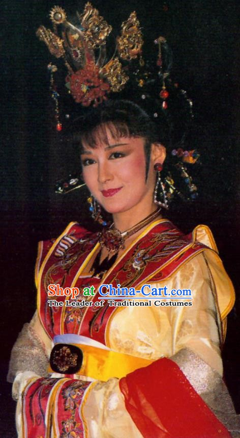 Chinese Ancient Tang Dynasty Empress Dress Palace Queen Wu Zetian Historical Costume for Women