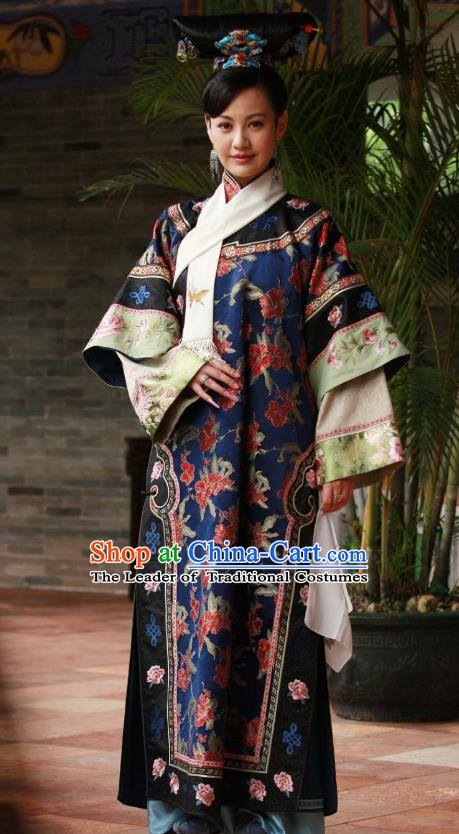 Chinese Qing Dynasty Qianlong Imperial Concubine Ling Embroidered Costume for Women