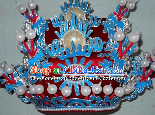 Traditional Chinese Beijing Opera Prime Minister Hair Accessories Peking Opera Chancellor Red Hats Headwear