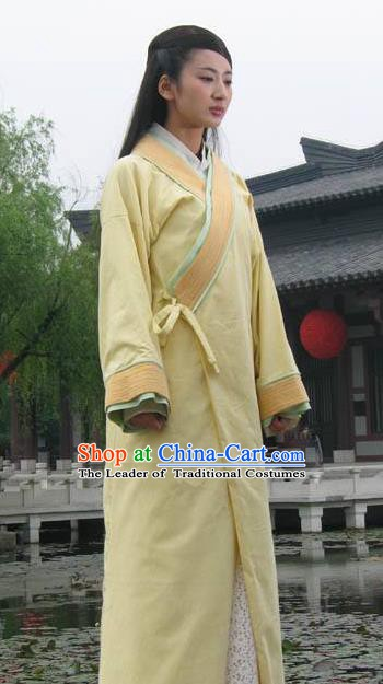 Ancient Traditional Chinese Han Dynasty Palace Lady Zhao Hede Hanfu Replica Costume for Women