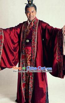 Traditional Chinese Wei and Jin Dynasties Swordsman Grand Commandant Sima Kui Replica Costume for Men